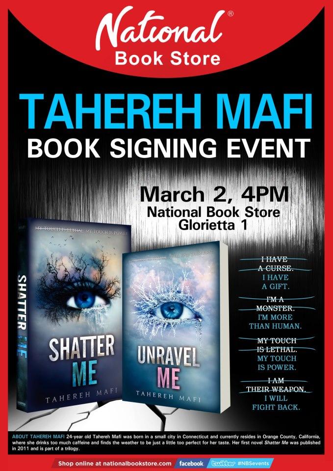 Tahereh Mafi in Manila