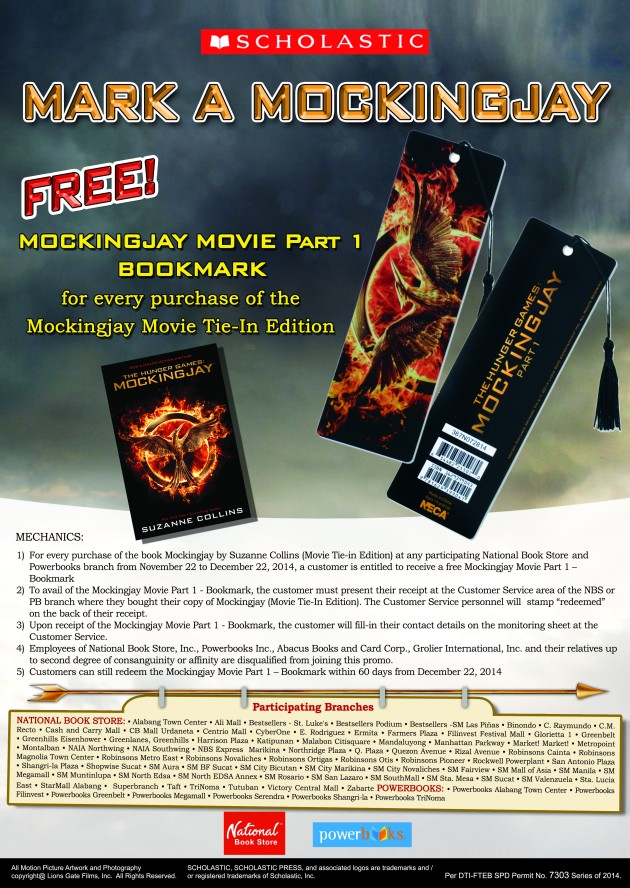 Mockingjay Bookmark Promo Poster