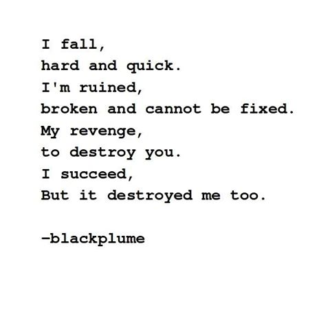 poetry - destruction