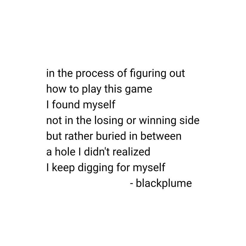 poem - buried